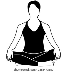 Easy Yoga Pose Illustration Icon