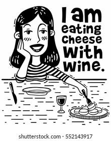 I eat cheese with wine comics