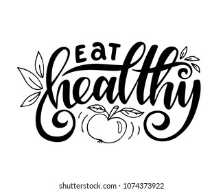 Eating Healthy Quotes Stock Illustrations, Images & Vectors ...