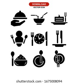 eat icon or logo isolated sign symbol vector illustration - Collection of high quality black style vector icons
