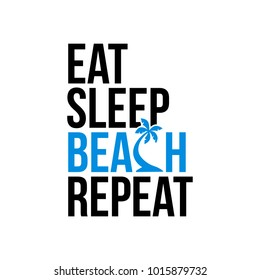 eat sleep beach repeat icon sign