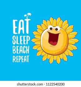 Eat Sleep Beach Repeat Vector Concept Stock Vector (Royalty Free