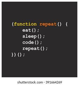 Eat Sleep Code Repeat Design