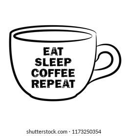 Eat, Sleep, Coffee, Repeat