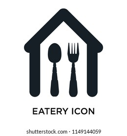 Eatery icon vector isolated on white background for your web and mobile app design, Eatery logo concept