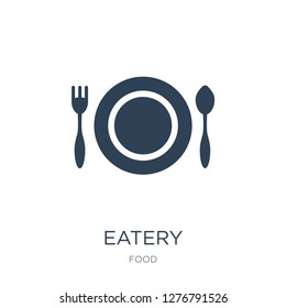 eatery icon vector on white background, eatery trendy filled icons from Food collection, eatery vector illustration