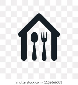 Eatery vector icon isolated on transparent background, Eatery logo concept