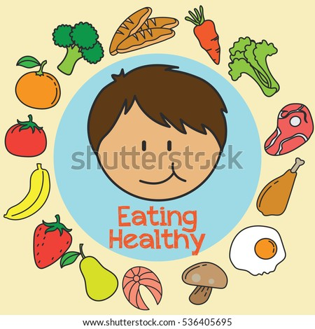Healthy Foods For Kids Clipart - Health Tips and Music