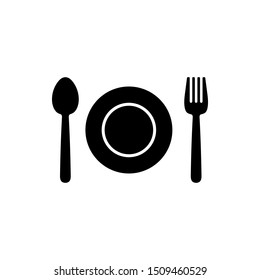 dining area icon images stock photos vectors shutterstock https www shutterstock com image vector eating icon vector spoon plate knife 1509460529