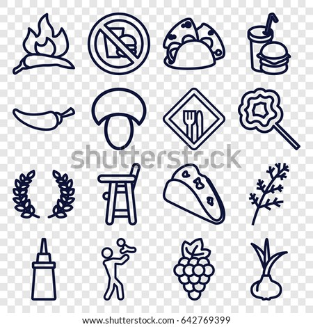 Superb Eating Icons Set Set 16 Eating Stock Vector Royalty Free Download Free Architecture Designs Scobabritishbridgeorg