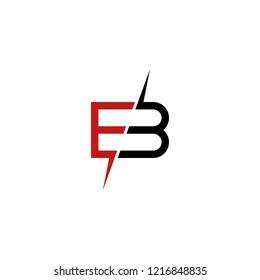 EB B Letter logo template vector illustration