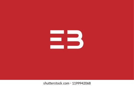 EB and BE abstract art logo design for monograms