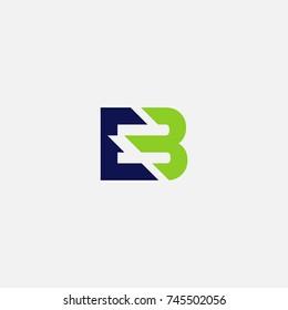 EB / E3 vector logo initial mark