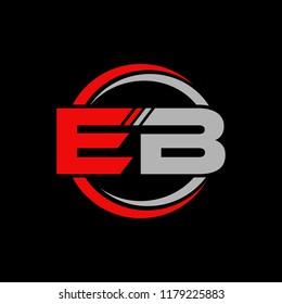 EB initial letters elegant logo, Modern Logo Design
