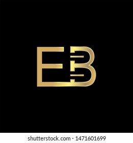 EB Initial logo Capital Letters Gold colors