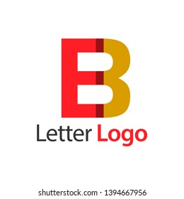 EB Initial stock logo template., modern paper font.