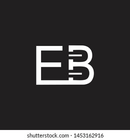 EB intial logo Capital Letters black background