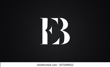 EB Letter Logo Design Template Vector