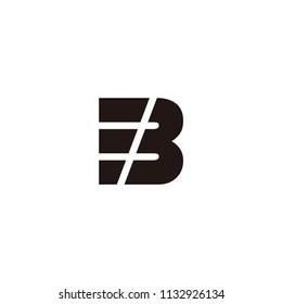 eb letter vector logo