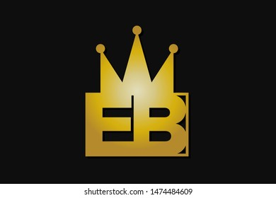 eb logo with gold crown