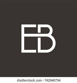 EB logo initial letter design template vector