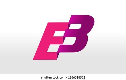 EB Logo. Letter design vector