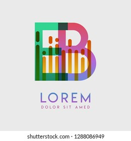 EB logo with the theme of galaxy speed and style that is suitable for creative and business industries. BE Letter Logo design for all webpage media and mobile, simple, modern and colorful