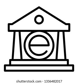ebanking technology icon design with creative modern concept and black and white outline style logo shape for pictogram, website, technology, web button design vector eps 10 - Vector
