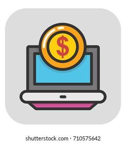 Ebanking Vector Icon