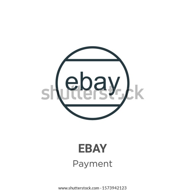 Ebay Outline Vector Icon Thin Line Stock Vector Royalty Free 1573942123