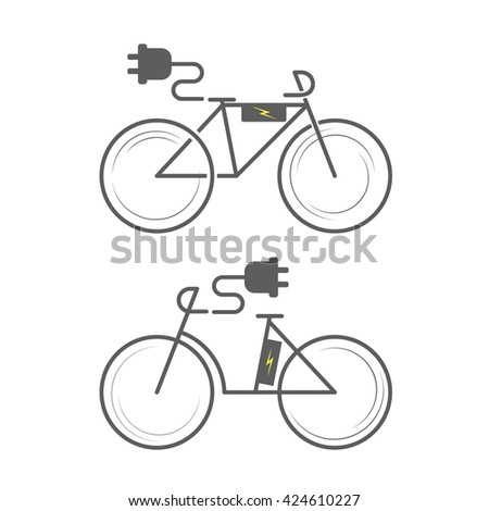 Ebike Icon On White Background Electro Stock Vector Royalty Free
