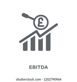 Ebitda icon. Ebitda design concept from Ebitda collection. Simple element vector illustration on white background.