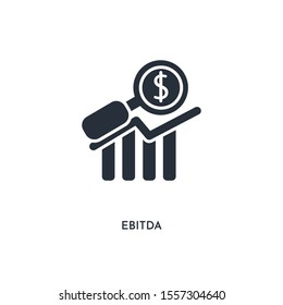ebitda icon. simple element illustration. isolated trendy filled ebitda icon on white background. can be used for web, mobile, ui.