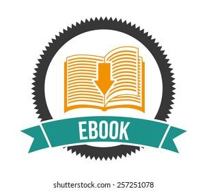 e-book concept design, vector illustration eps10 graphic