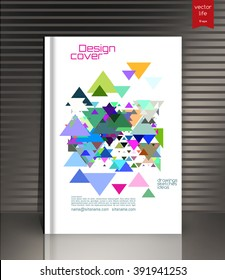 Ebook cover. Layout ebook cover. Design Cover for ebook. Colored ebook cover. Ebook cover vector design. Cover design for the ebook, datebook, book. Color cover & gray background. Sample ebook cover.