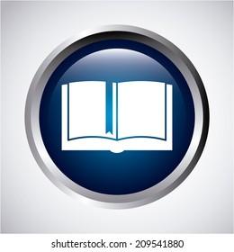 eBook design over gray  background, vector illustration