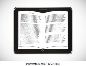 ebook download over gray background. vector illustration