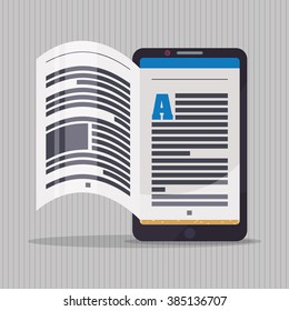 Ebook icon design
