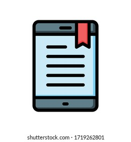 ebook icon vector graphic for any business