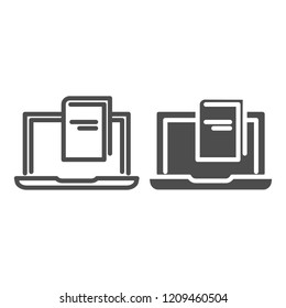 E-book line and glyph icon. Reading vector illustration isolated on white. Book outline style design, designed for web and app. Eps 10