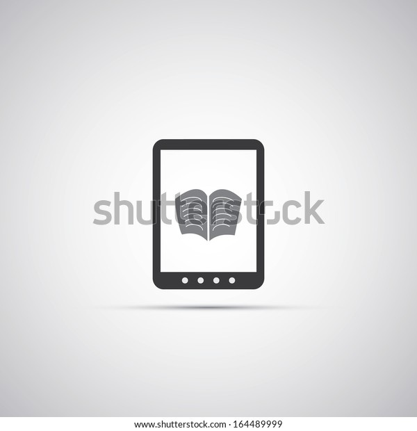 Ebook Reader Icon Design Stock Vector Royalty Free 164489999