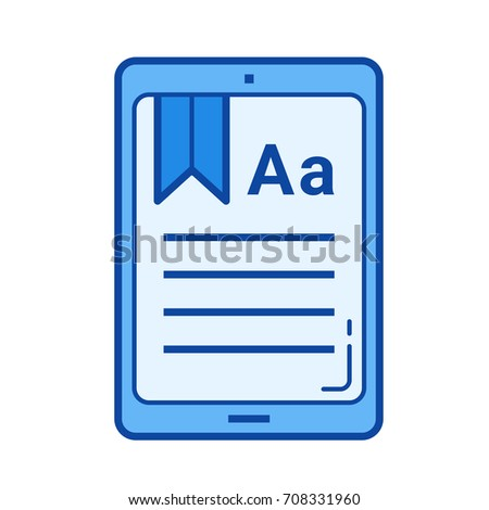 Ebook Vector Line Icon Isolated On Stock Vector Royalty