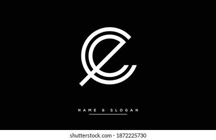 EC ,CE ,E ,C Abstract monogram Letters Logo