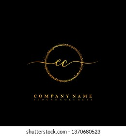 EC Initial luxury handwriting logo vector