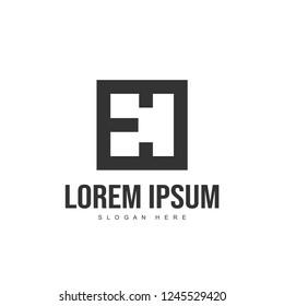 EC Letter logo design. Initial letter logo template design
