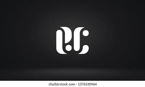 EC logo design template vector letter