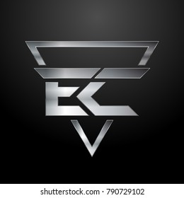 EC Logo, Monogram, Metal