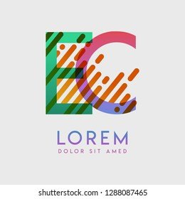EC logo with the theme of galaxy speed and style that is suitable for creative and business industries. CE Letter Logo design for all webpage media and mobile, simple, modern and colorful