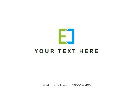 EC logo vector for brand or identity on white color -Vector