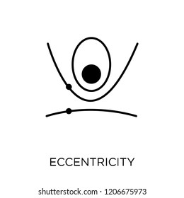 Eccentricity icon. Eccentricity symbol design from Astronomy collection.